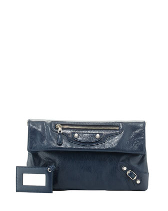 Giant 12 Lambskin Envelope Crossbody Bag, Blue