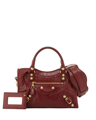 Giant 12 City Mini Lambskin Tote Bag, Rouge