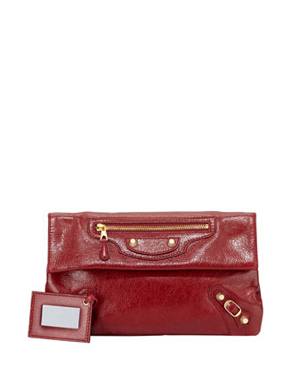 Giant 12 Envelope Clutch Bag, Red