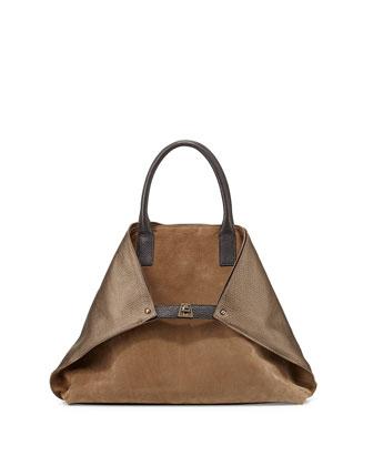 Ai Medium Messenger Bag, Vicuna