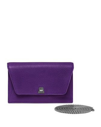 Anouk Leather Clutch Bag, Viola