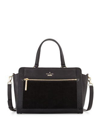 chatham lane harlan satchel bag, black