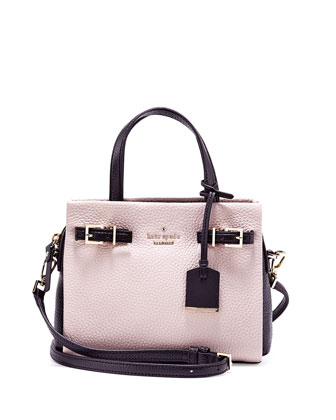 holden street small lanie tote bag, mousse frost/black