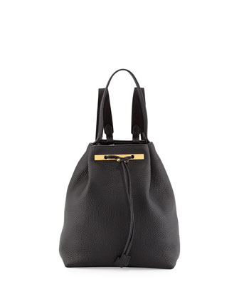 Backpack 9 Leather Hobo Bag, Black