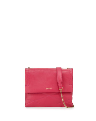 Sugar Mini Lambskin Shoulder Bag, Fuchsia
