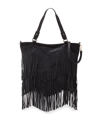 Ziggy Stardust Fringe Bag, Black