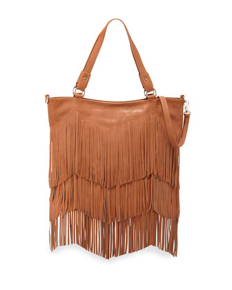 Ziggy Stardust Fringe Bag, Tan