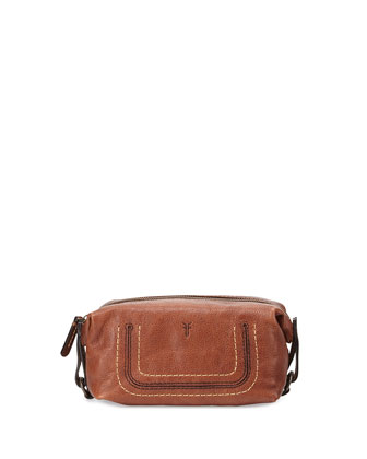 Anna Leather Cosmetic Case, Copper