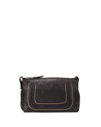 Anna Leather Travel Pouch, Black