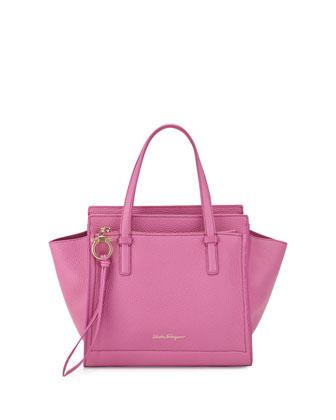 Amy Small Gancio Leather Tote Bag, Anemone