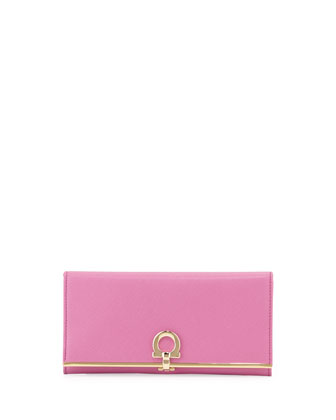Icona Continental Flap Wallet, Anemone