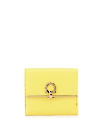 Icona Saffiano French Wallet, Mimosa