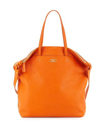 Aika Gancini Origami Tote Bag, Orange