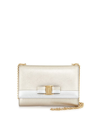Miss Vara Bow Bicolor Crossbody Bag, Stardust