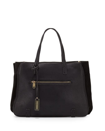 Simple Love Satchel Bag, Black