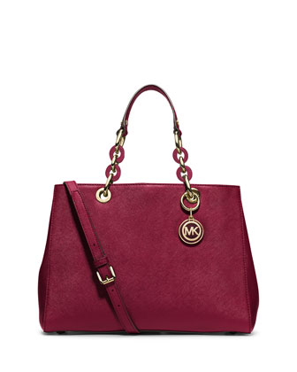 Hamilton Medium Satchel Bag, Cherry