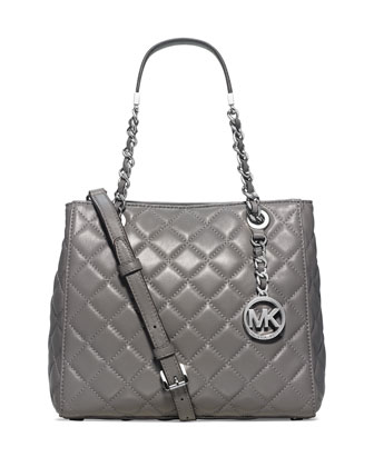 Susanna Small Tote Bag, Steel Gray