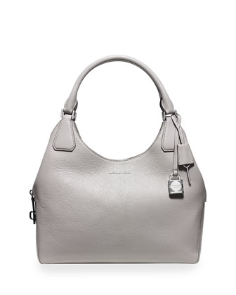 Camile Large Shoulder Bag, Pearl Gray