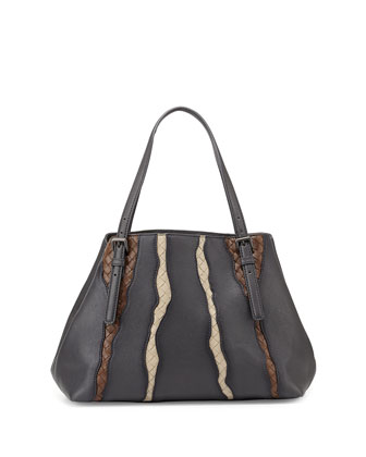 A-Shape Medium Tote Bag, Medium Gray