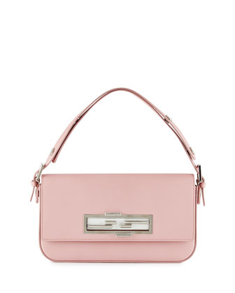 New Baguette Shoulder Bag, Pink/White