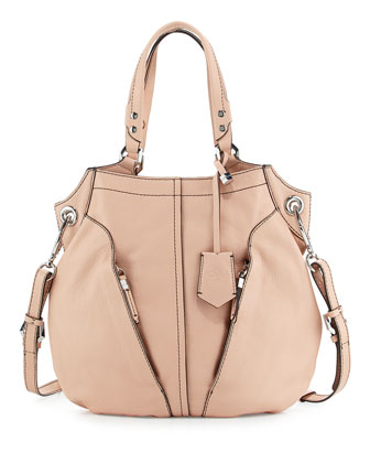 Victoria Leather Tote Bag, Misty Rose