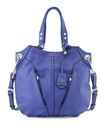 Victoria Leather Tote Bag, Royal