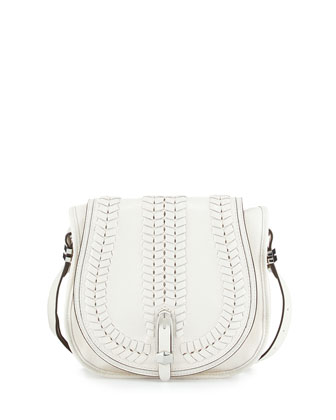 Amanda Leather Shoulder Bag, White