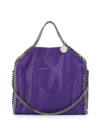 Falabella Fold-Over Tote Bag, Bright Purple