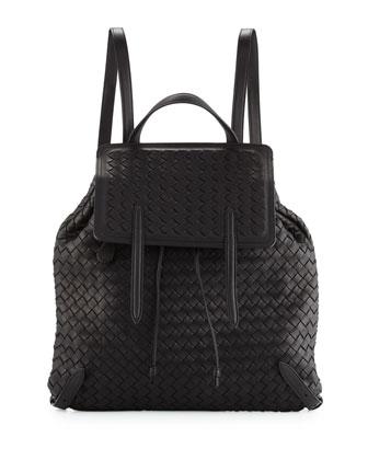 Intrecciato Medium Backpack, Black