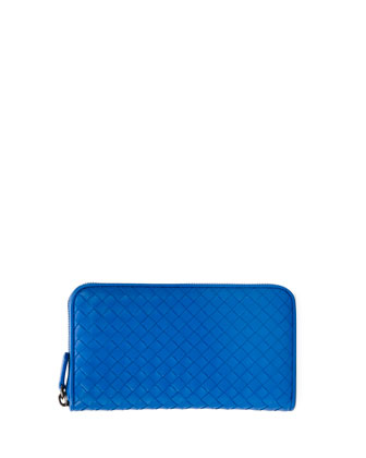 Continental Zip-Around Wallet, Cobalt