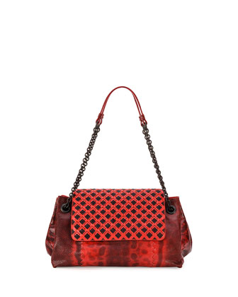 Karung Small Shoulder Bag, Red/Black
