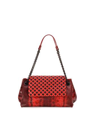 Karung Small Shoulder Bag, Red/Black