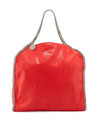 Falabella Shaggy Deer Big Tote Bag, Cherry