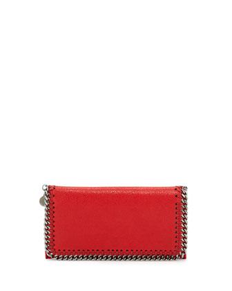 Falabella Chain Flap Wallet, Cherry