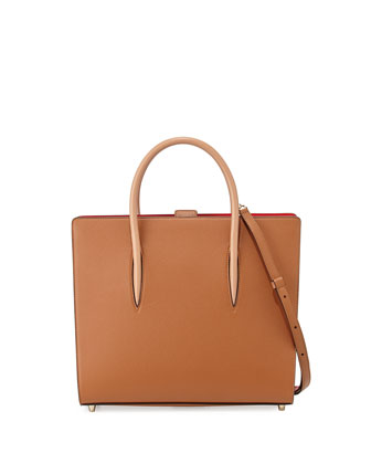 Paloma Large Triple-Gusset Tote Bag, Cognac