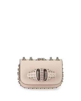 Sweety Charity Spikes Crossbody Bag, Nude