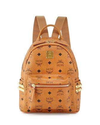 Stark Side Stud Mini Backpack, Cognac