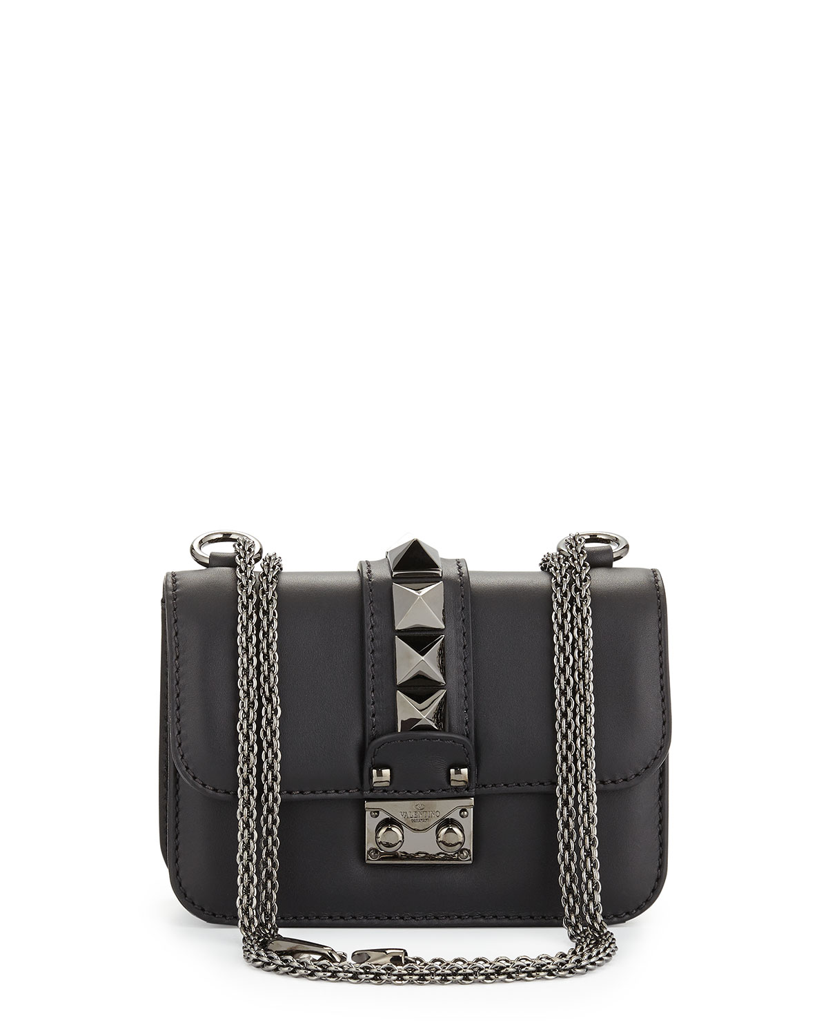 Red Valentino Lock Half-Flap Small Shoulder Bag, Black, Size: S