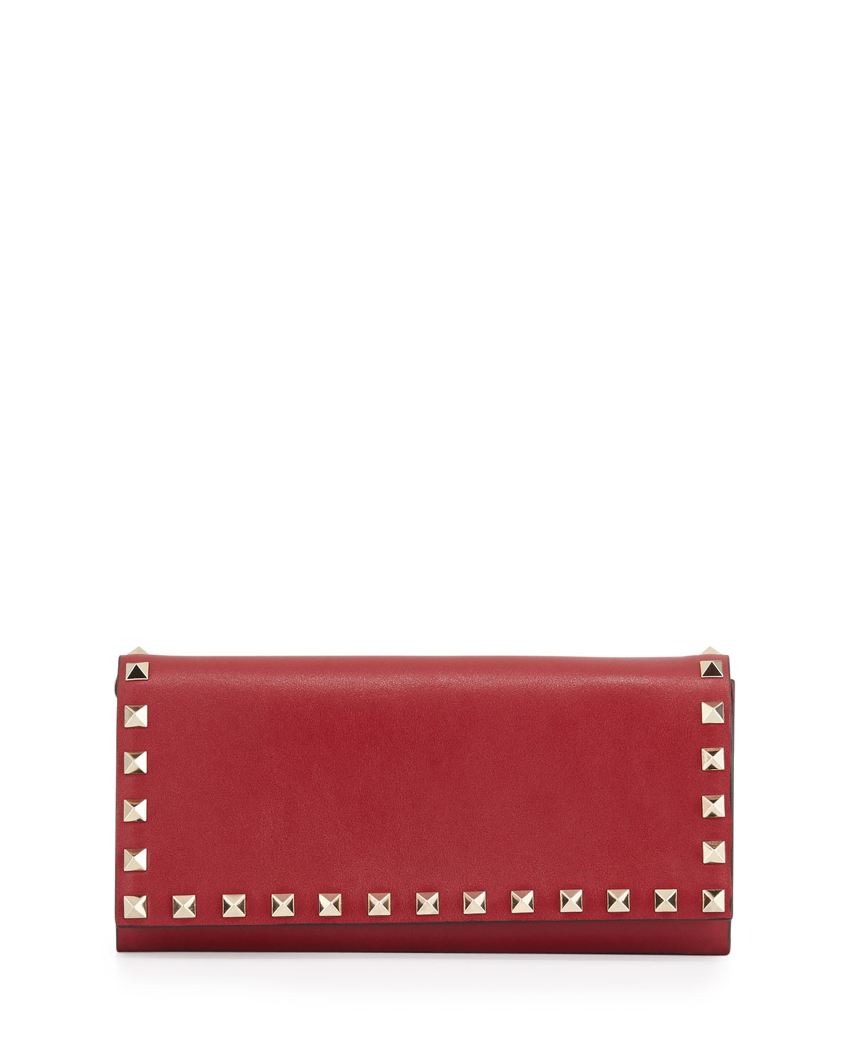 Rockstud Wallet-on-Chain, Scarlet (Red) - Valentino