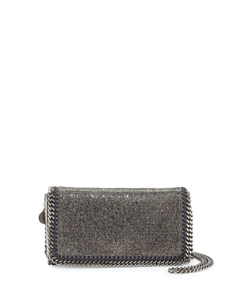 Falabella Crystal Crossbody Bag, Ruthenium