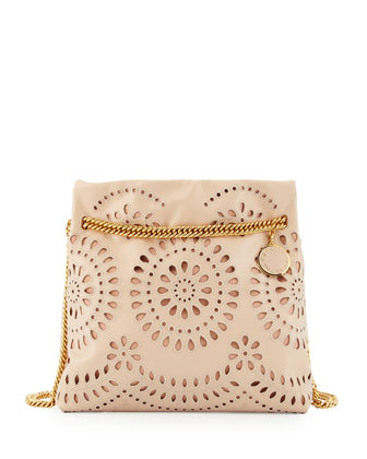 Noma Eyelet Medium Shoulder Bag, Powder