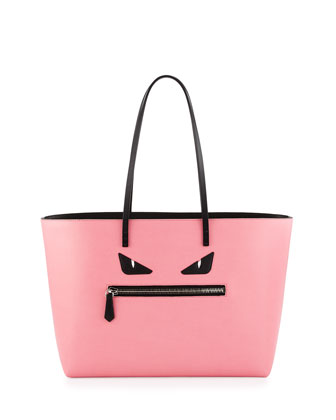 Monster Medium Roll Tote Bag, Pink