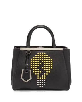 2Jours Petite Lightbulb Satchel Bag, Black/Yellow