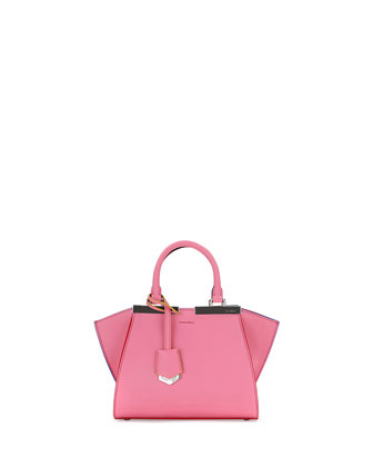 3 Jours Mini Leather Satchel Bag, Pink