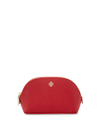 York Small Leather Makeup Bag, Kir Royale