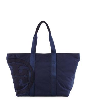 Penn Nylon Logo Zip Tote Bag, Tory Navy