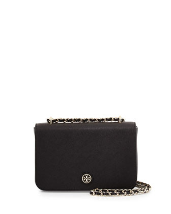 Robinson Saffiano Chain-Strap Shoulder Bag, Black