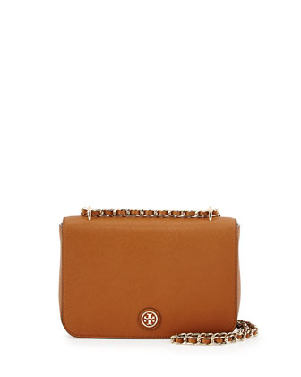 Robinson Saffiano Chain-Strap Shoulder Bag, Tiger's Eye
