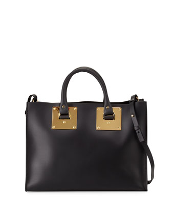 Albion Soft East-West Tote Bag, Black