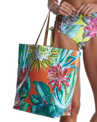Cactus Flower-Print Underwire Swim Top